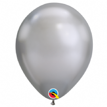Chrome Balloons - Silver Chrome Balloons (100pcs) 7 Inch